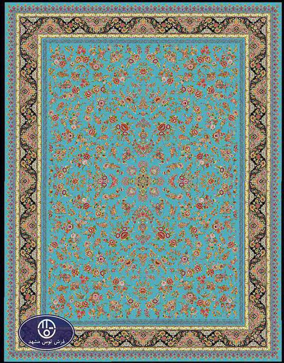 فرش 1200 شانه کد 1247,توس مشهد,آبی