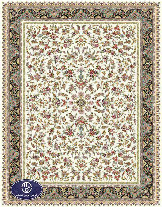 فرش 1200 شانه کد 1249,توس مشهد,کرم