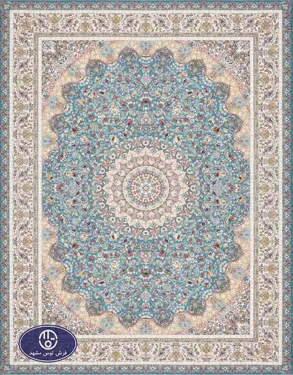 فرش 1500 شانه کد 1519,توس مشهد,آبی