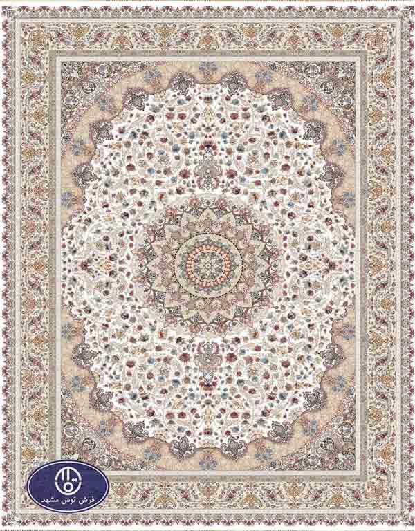 فرش 1500 شانه کد 1519,توس مشهد,سفید