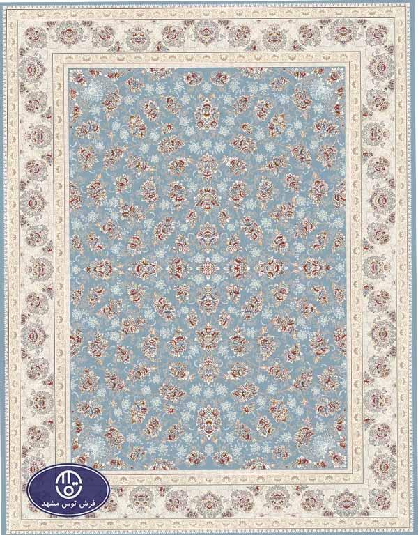 فرش 1500 شانه کد 1534 فرش توس مشهد,آبی