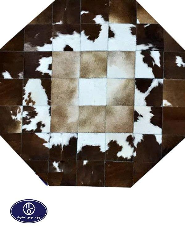 Toos Mashhad leather and skin rug, code 16