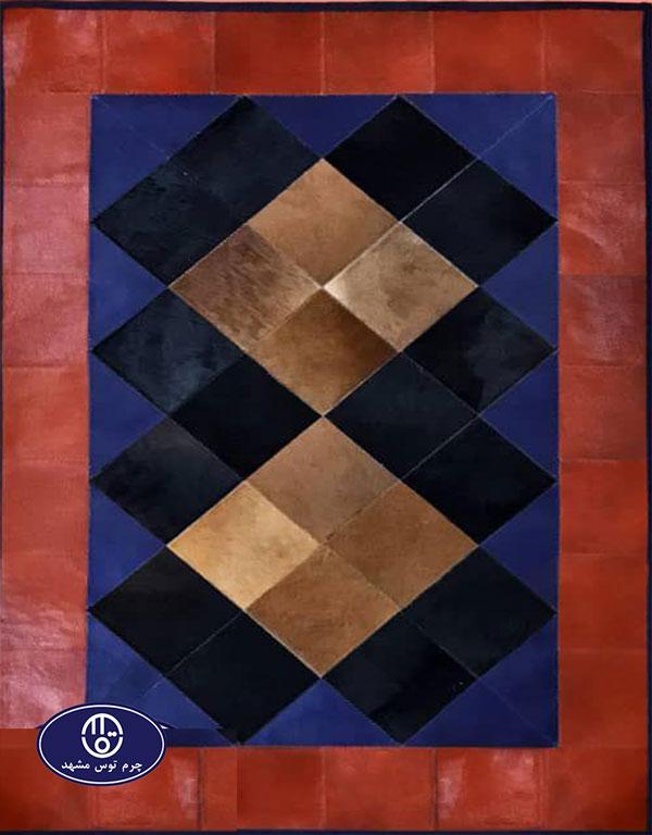 Toos Mashhad leather and skin rug, code 1