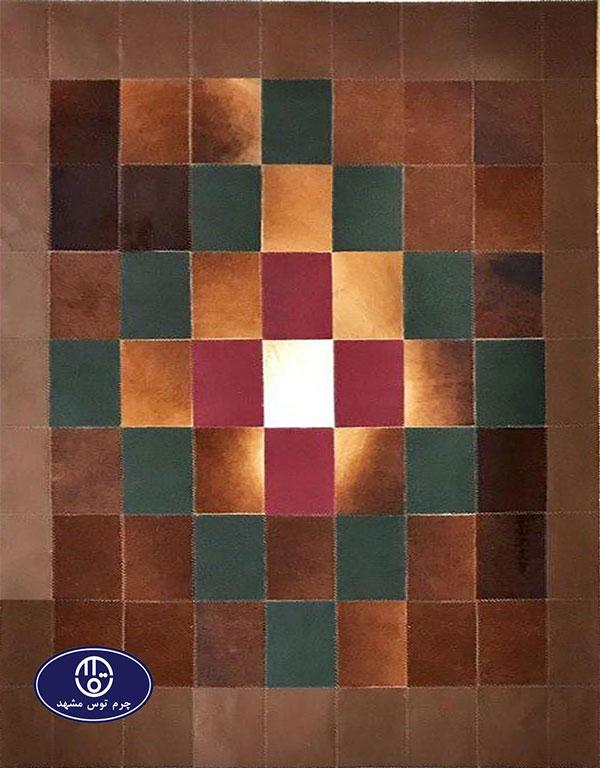 Toos Mashhad leather and skin rug, code 4
