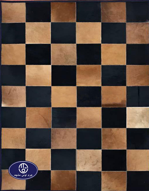 Toos Mashhad leather and skin rug, code 5