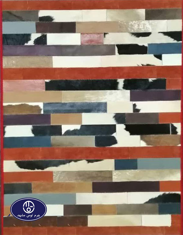 Toos Mashhad leather and skin rug, code 6