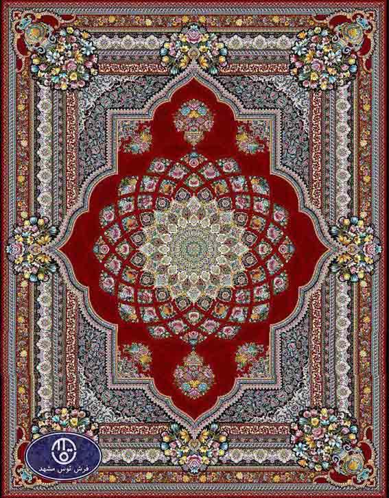 فرش ماشینی 1200 شانه کد 1266,توس مشهد,لاکی
