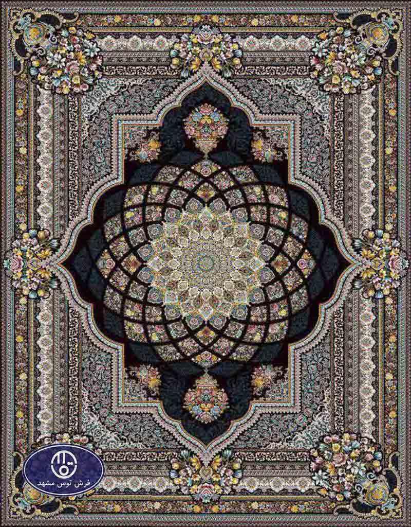 فرش ماشینی 1200 شانه کد 1265,توس مشهد,سورمه ای