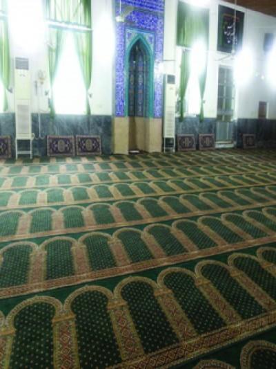 prayer carpet, Khatere pattern, green