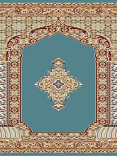 فرش سجاده ای خضرا آبی - 04