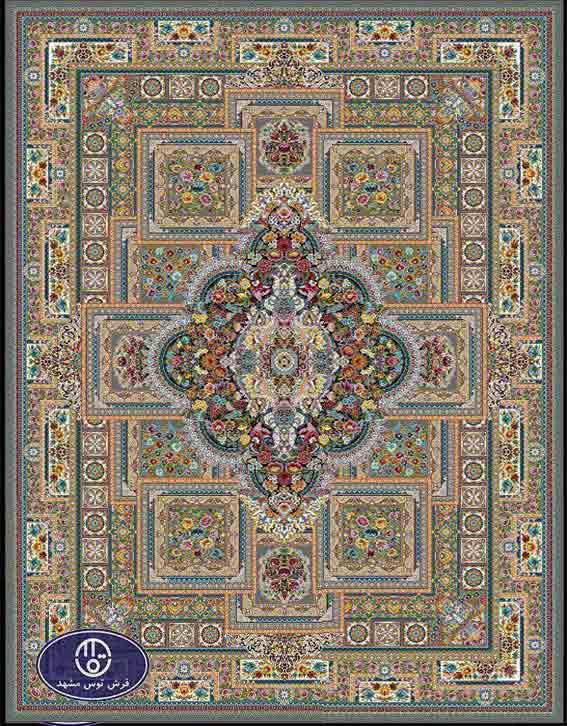 فرش ماشینی 1200 شانه طرح ماهور کد 5032,فیلی,توس مشهد