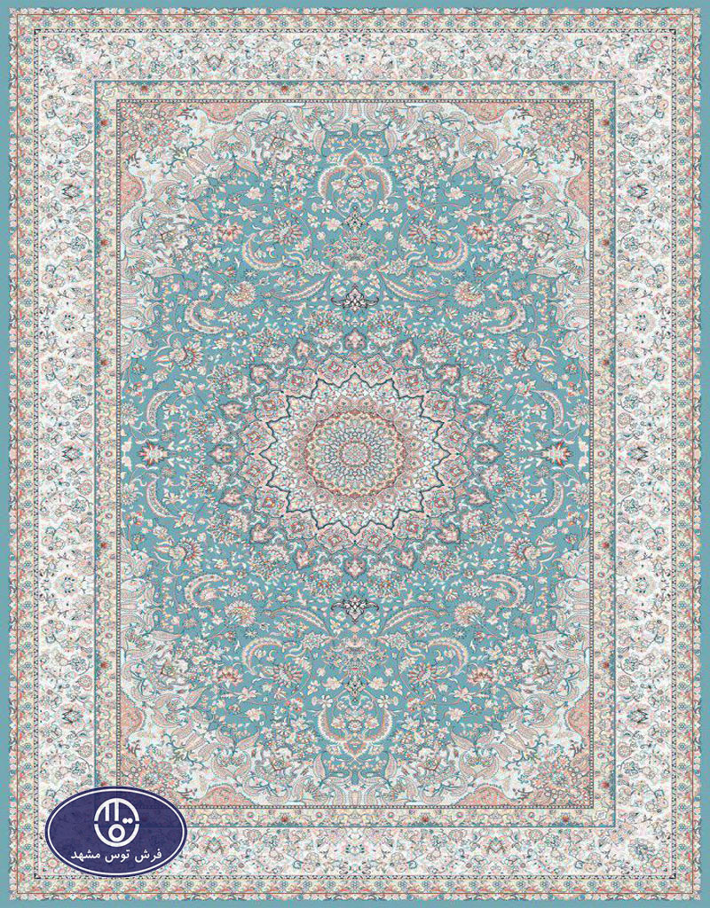 فرش 1200 شانه کد 1223,توس مشهد,آبی