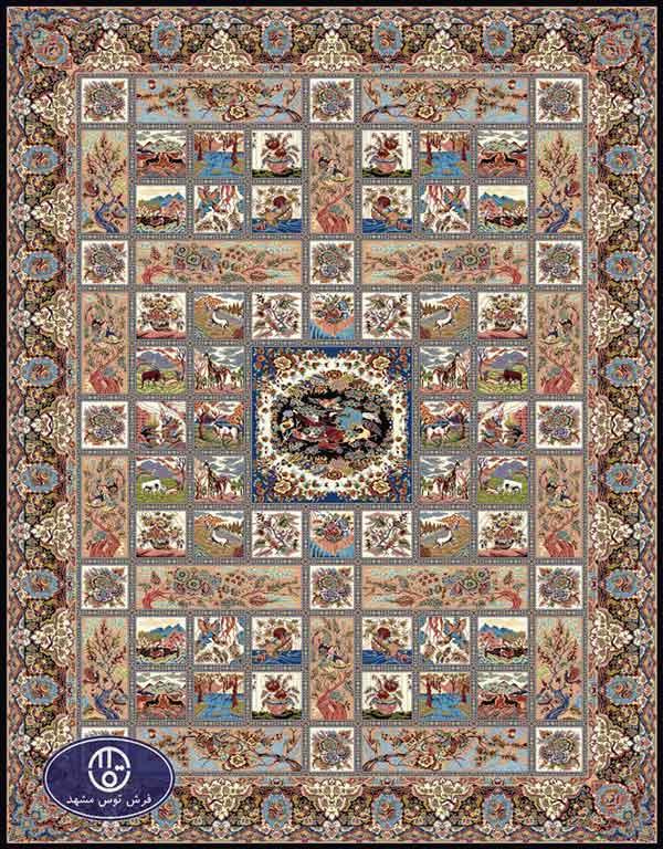 فرش ماشینی 1000 شانه تراکم 3000 طرح پالی,توس مشهد