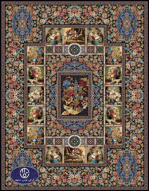 فرش ماشینی 1000 شانه طرح پریزاد,توس مشهد