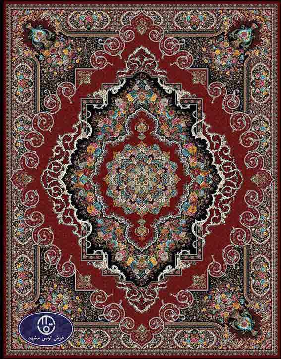 فرش ماشینی 1200 شانه کد 1255,توس مشهد,لاکی