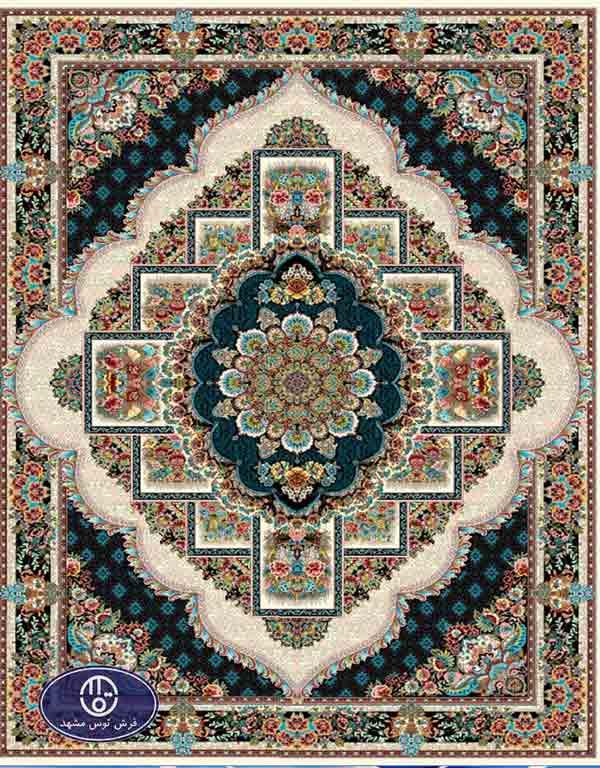 فرش ارزان 700 شانه کد 6046,توس مشهد,کرم