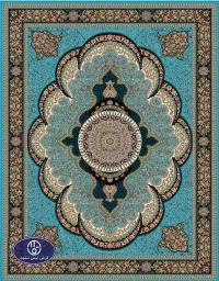 Cheap 700 reeds carpet. code: 6024. blue