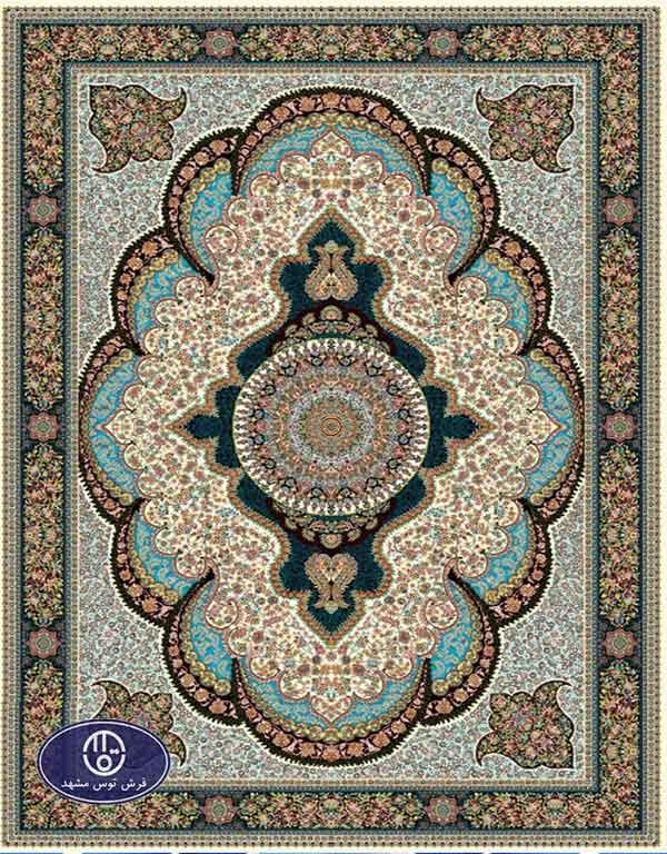 فرش ارزان 700 شانه کد 6024,توس مشهد,کرم