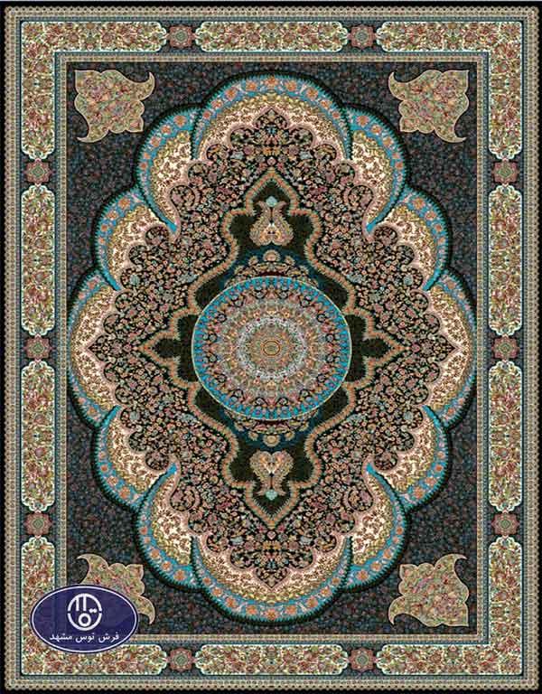 فرش ارزان 700 شانه کد 6024,توس مشهد,سرمه ای