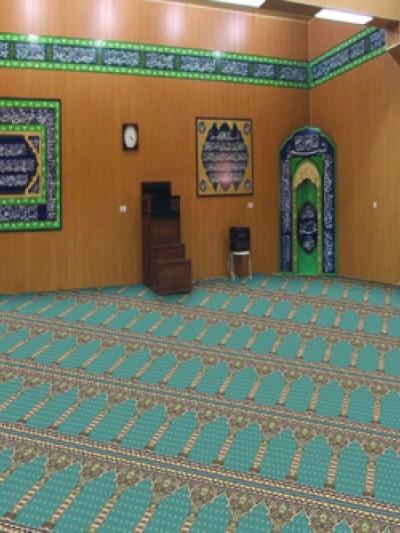 prayer carpet, Soraya pattern, turquoise