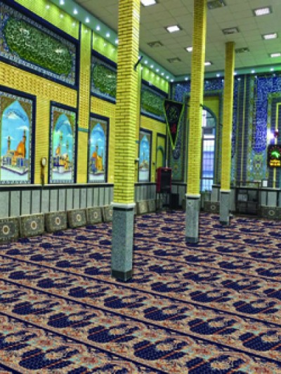 prayer carpet, Tasnim pattern, blue