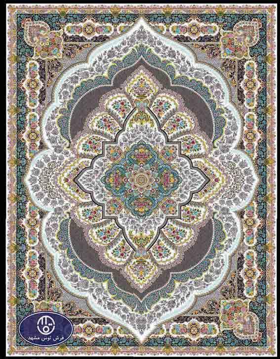 فرش ماشینی 1200 شانه کد 1238,کرم,توس مشهد