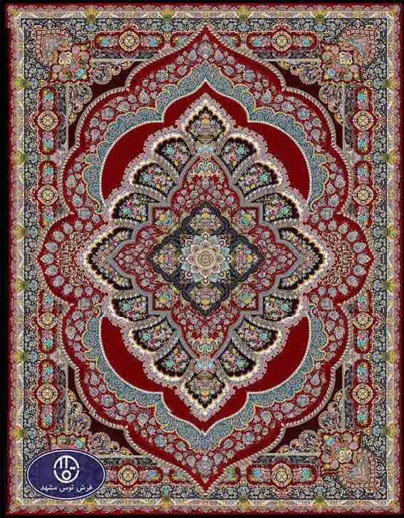 فرش ماشینی 1200 شانه کد 1240,لاکی,توس مشهد